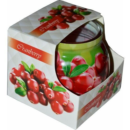 Świeca zapachowa w szklance powlekanej Miral Cranberry (5908260617240)