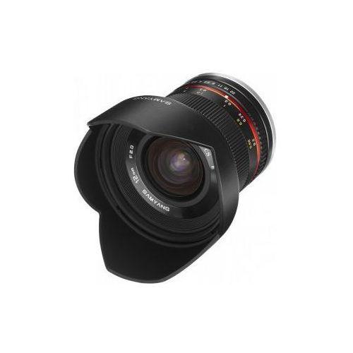 Karta kurier gratis  12 mm f2.0 czarny obiektyw mocowanie sony e (nex) marki Samyang
