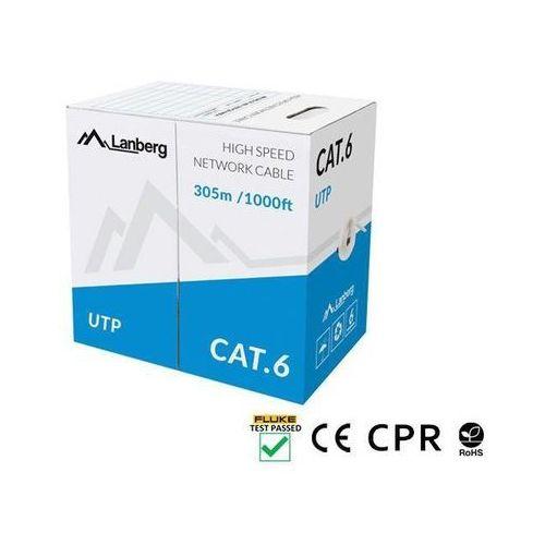 LANBERG Kabel UTP Kat.6 CU 305 m drut szary (5901969421804)