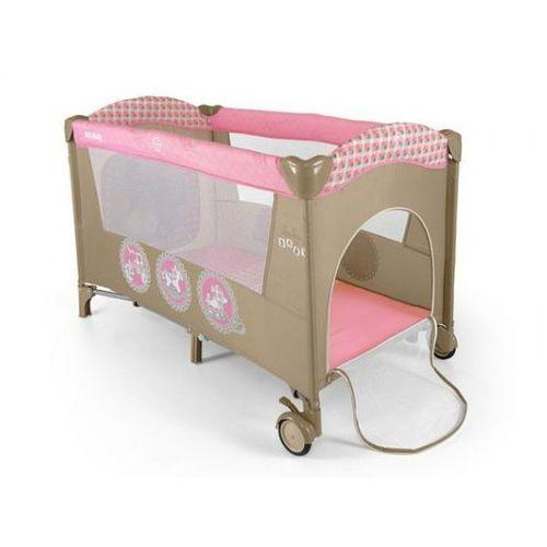 Łóżeczko turystyczne 120x60  mirage pink toys marki Milly mally