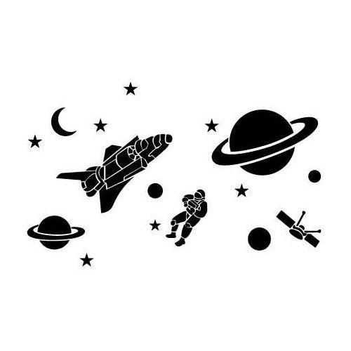 Szablon malarski z tworzywa, wielorazowy, wzór dla dzieci 61 - kosmos