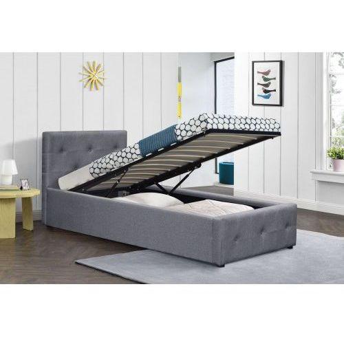 Łóżko tapicerowane materiałowe 90x200 sfg012a popiel marki Meblemwm