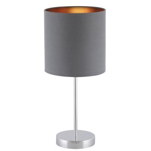 Lampa stołowa Rabalux Monica 2538 lampka 1x60W E27 szary/złoty