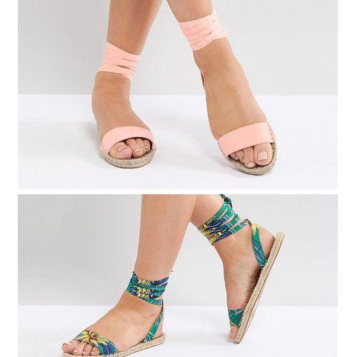 jenica two pack espadrille sandals - multi marki Asos