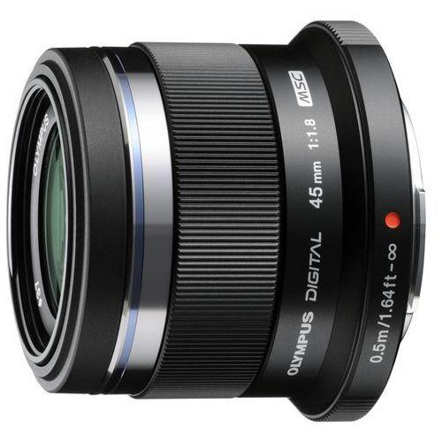 Olympus m. 45 mm f1.8 uv czarny obiektyw z filtrem mocowanie micro 4/3