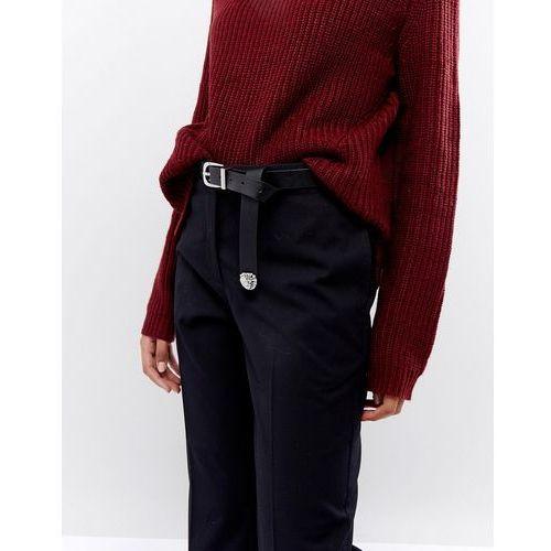 design vegan animal tipped end boyfriend waist and hip belt in water based pu - black marki Asos