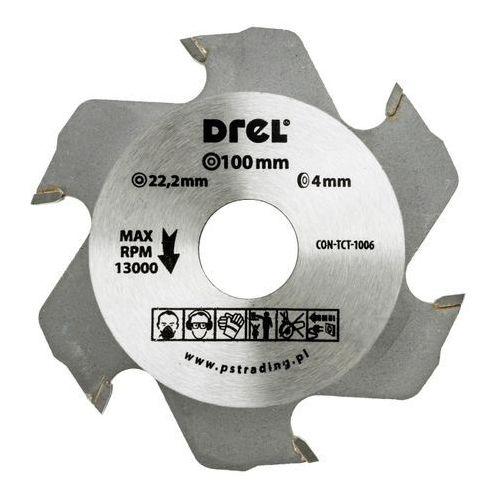 Tarcza do frezarki Drel 100 x 4 x 22 mm 6T, CON-TCT-1006
