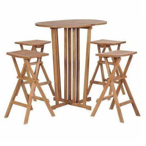 Zestaw drewnianych mebli ogrodowych Simmons 2X - brązowy, vidaxl_44730