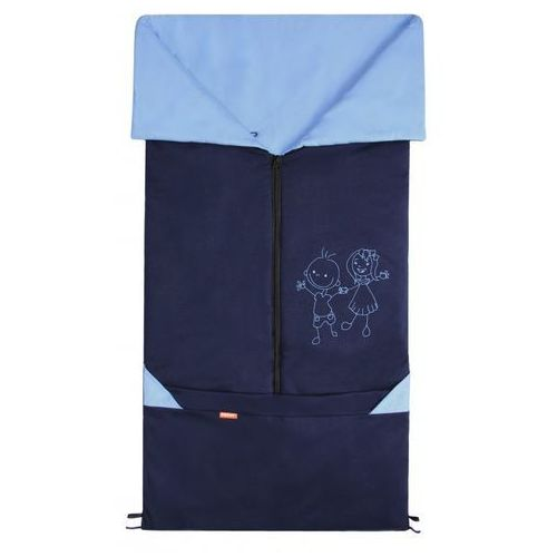 śpiworek do wózka/fusak 2w1 bary, niebieski/jasnoniebieski marki Emitex