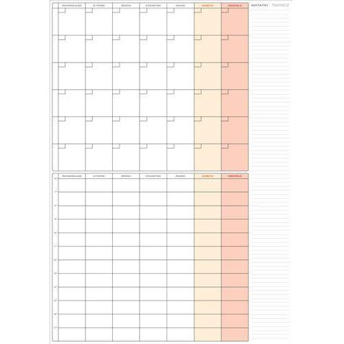 Planer- terminarz miesięczny+tygodniowy 59x84 cm (A1)