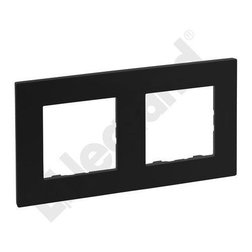 Ramka podwójna Legrand Niloe Step czarna, kolor czarny
