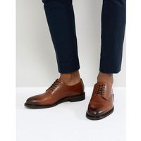 Selected homme leather derby shoes in brown - brown
