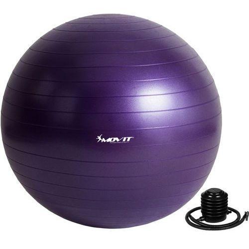 Fioletowa piłka fitness rehabilitacyjna 85 cm pompka - 85 cm / fioletowy marki Movit ®