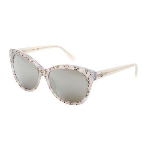 Okulary przeciwsłoneczne damskie GUESS - GU7437-88, GU7437_24C