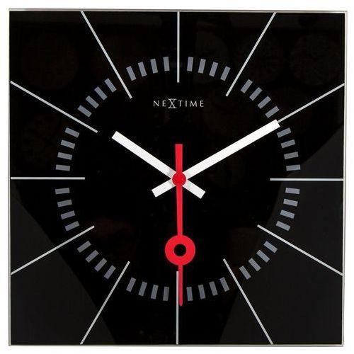 - zegar ścienny stazione - czarny marki Nextime