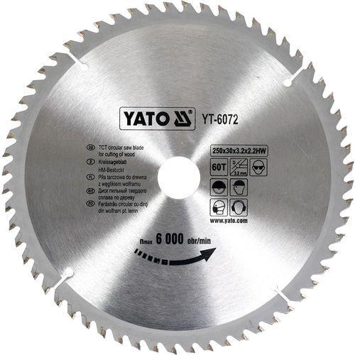 TARCZA WIDIOWA 250X60TX30 MM Yato YT-6072 - ZYSKAJ RABAT 30 ZŁ