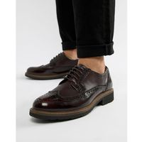 Dune brogues in bordo leather - red