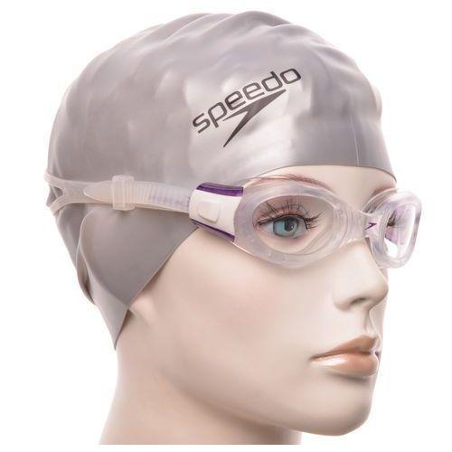 Speedo Okulary pływackie  female futura biofuse przezroczysto/fioletowy
