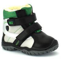 Wojtyłko Buty zimowe dla dzieci 20088 - zielony ||czarny