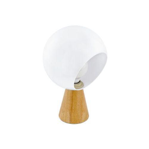 Eglo Mamblas 98278 lampka stołowa biurkowa 1x60W E27 brązowo/biała