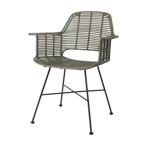 krzesło rattanowe tub oliwkowy - hk living mzm4009 marki Hk living