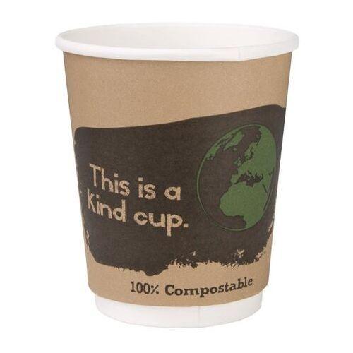 Kompostowalne kubki dwuściankowe na kawę 227ml / 8oz marki Fiesta green