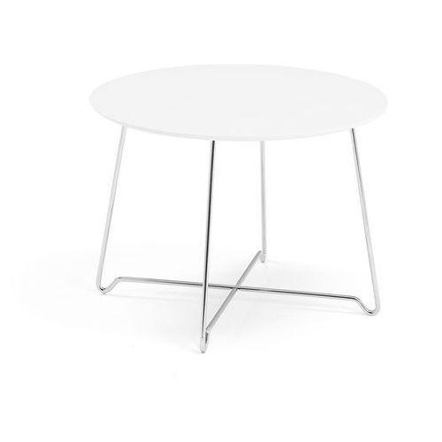 Stół kawowy iris, wys. 510 mm, chrom, biały marki Aj produkty