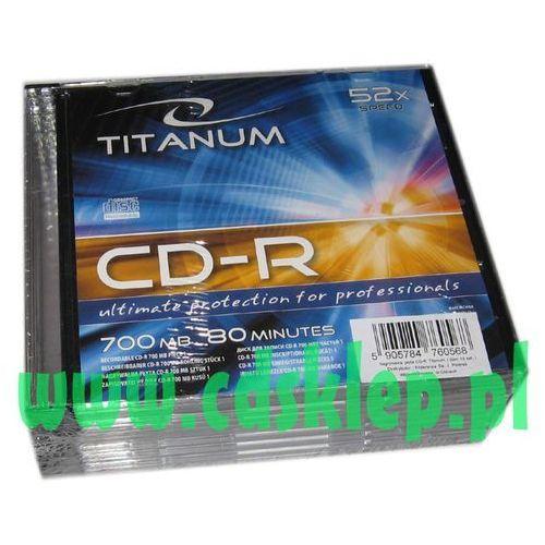 Cd-r 700mb pudełko slim 10szt. marki Titanum