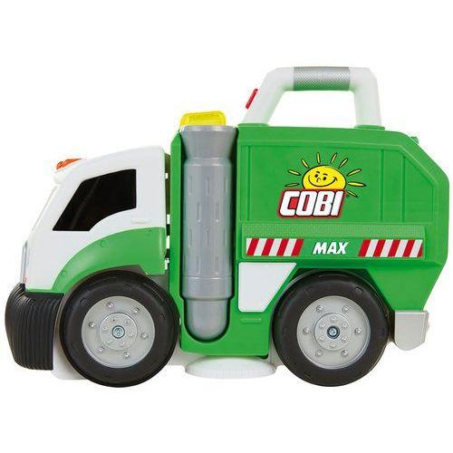 Dust truck max łakomczuch | pojazd rusza paszczą zbiera drobne zabawki marki Cobi
