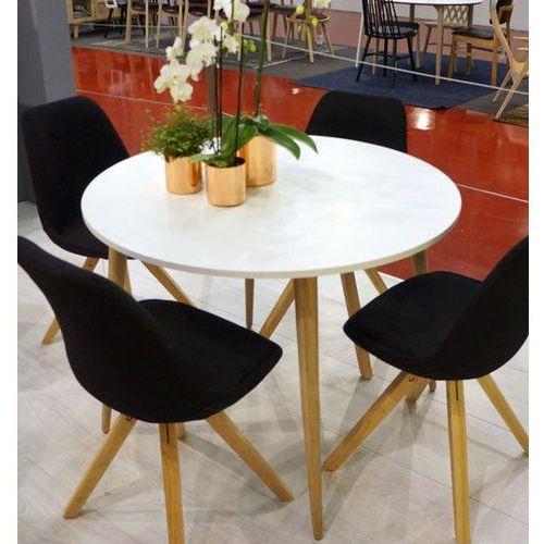 Okrągły stół oslo 100x100 w stylu skandynawskim marki Tvilum