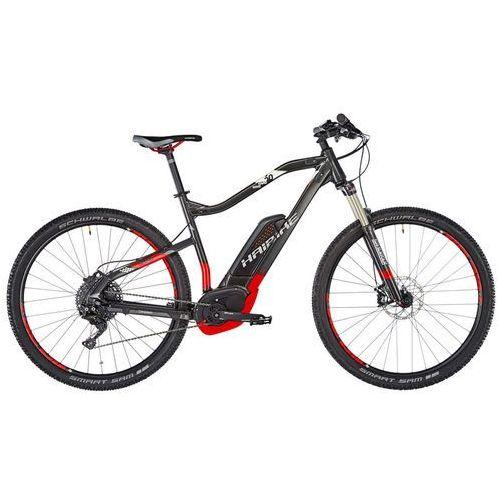 """sduro hardnine 6.0 rower elektryczny hardtail szary/czerwony 50cm (29"""") 2018 rowery górskie marki Haibike"""