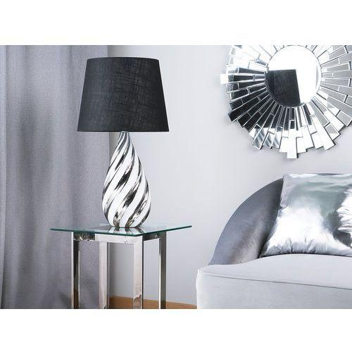 Lampa stołowa czarna/srebrna 65 cm VISELA (4251682211222)