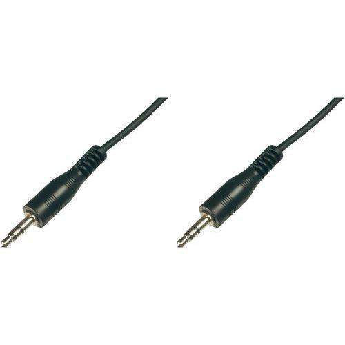 Kabel audio, jack  ak-510100-025-s, [1x złącze męskie jack 3,5 mm - 1x złącze męskie jack 3,5 mm], 2.50 m, czarny marki Digitus