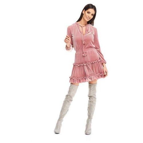 Sukienka velvet w kolorze różowym marki Sugarfree
