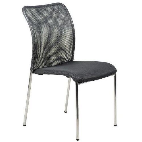 Krzesło konferencyjne HN-7502ch/GRAFIT. Stelaż chromowany. Krzesło biurowe