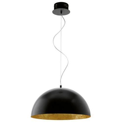 LAMPA wisząca GAETANO 94228 Eglo metalowa OPRAWA LED 24W zwis kopuła czarna, 94228