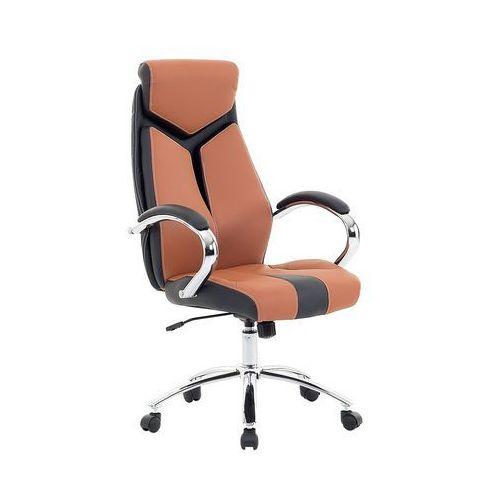 Krzesło biurowe brązowe - fotel biurowy obrotowy - meble biurowe - FORMULA 1 (7081459118983)