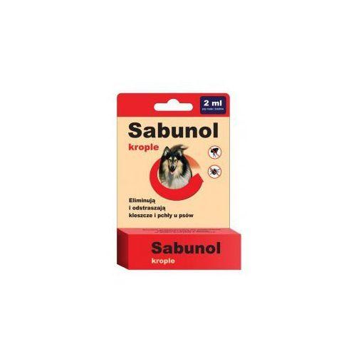 Sabunol krople przeciwko pchłom i kleszczom 2 ml dla psów od 10-20 kg