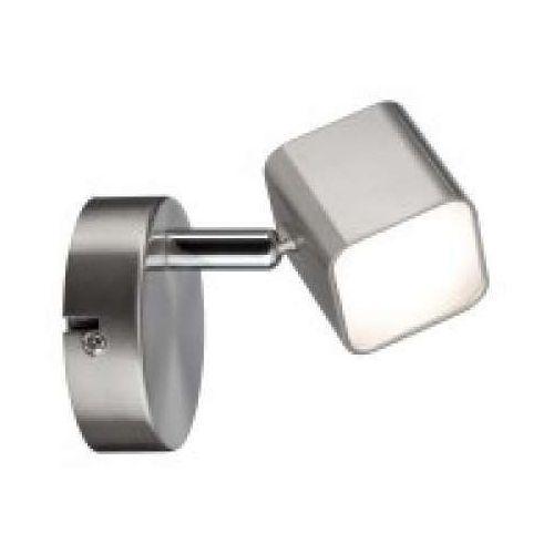 Reflektor Cubik LED 1-lampowy 1x4 W Żelazko szczotkowane, PAULMANN 66736