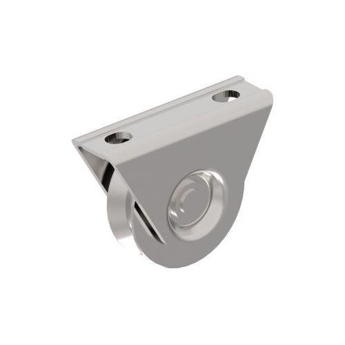 Koło do bram przesuwnych z rowkiem V, INOX, D80mm