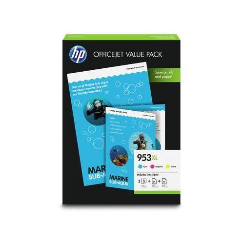 oryginalny multipak HP 953xl [1CC21AE] cmy + papier