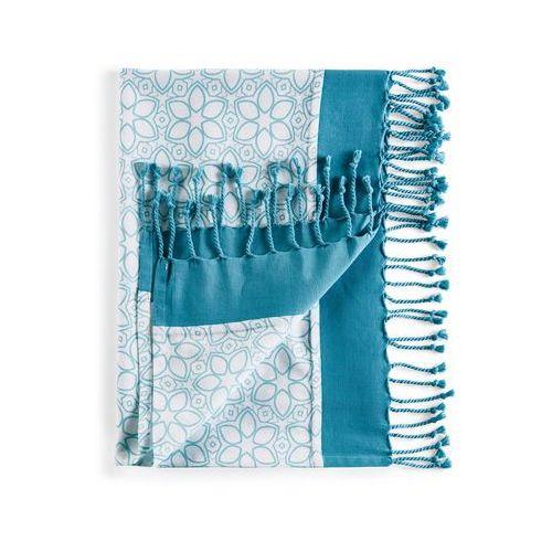 """Chusta hamam """"kwiaty"""" niebieskozielony morski marki Bonprix"""
