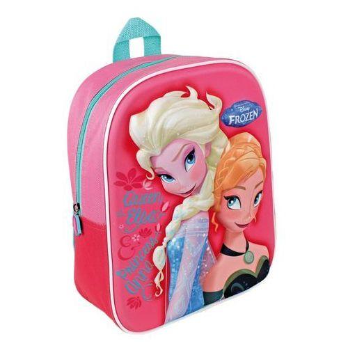 Plecak Frozen - Kraina Lodu 3D - 31 cm różowy ELSA ANNA, kolor różowy