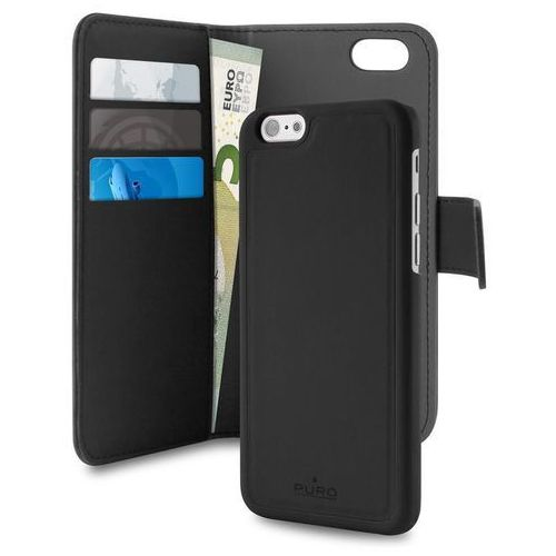 wallet detachable - etui 2w1 iphone 7 (czarny) marki Puro