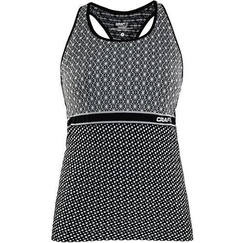 tank top damski core block, czarno-biały s marki Craft