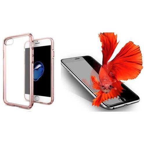 Zestaw | Spigen SGP Ultra Hybrid Rose Crystal | Obudowa + Szkło ochronne Perfect Glass dla modelu Apple iPhone 7