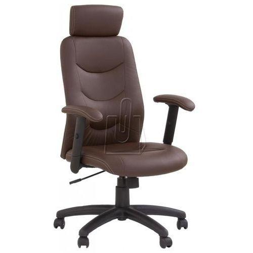 Fotel gabinetowy Stilo ciemno brązowy - gwarancja bezpiecznych zakupów - WYSYŁKA 24H