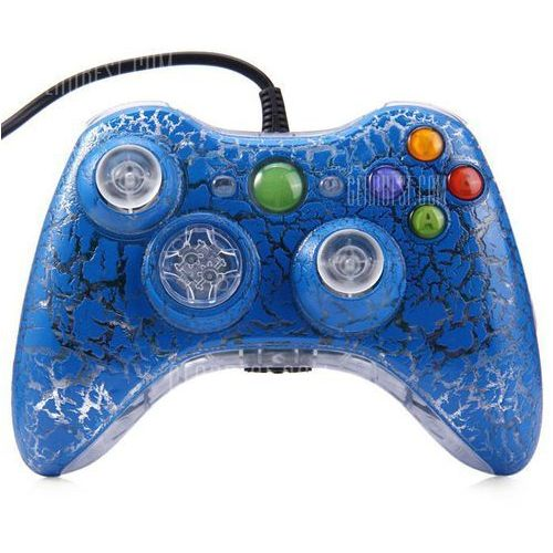Gearbest Crackle style wired gamepad controller for pc xbox 360
