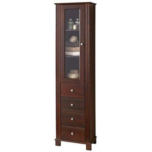 Drewniana szafka łazienkowa wysoka retro nowe fsc 800 marki Comad