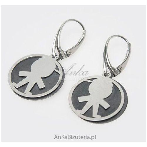 Kolczyki srebrne -prezent na urodzenie dziecka dla mam -chłopczyk marki Anka biżuteria